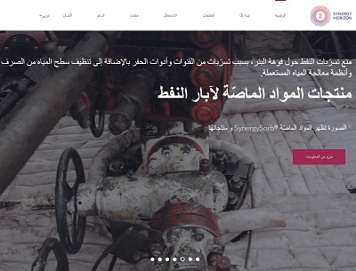 The Arabic version of the SynergySorb® website is launched